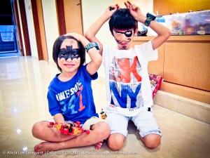 Batman & Pirate Kids Birthday Party Face Painter Singapore