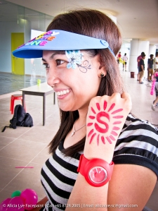 Company Logo Hand Art | Singapore Professional Kids Face Painter