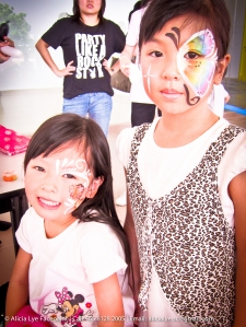 Butterfly Flower Girls Face Paint | Singapore Professional Kids Face Painter