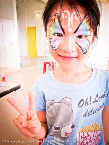 Rainbow Butterfly Girl Face Paint | Singapore Professional Kids Face Painter