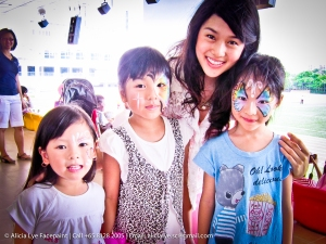 Rainbow Butterfly Flower Girls Face Paint | Singapore Professional Kids Face Painter