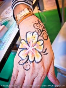 Swirly Flower Hand Paint
