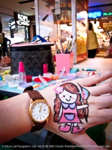 Rainbow Girly Doll Hand Paint