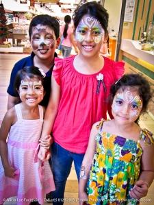 Bear Rainbow Butterfly Flower Princess Family Face Paint