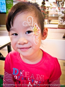 Delicate Butterfly Face Paint