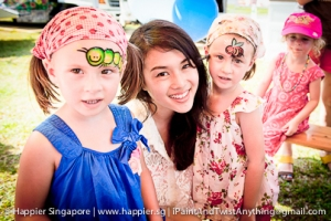 Bee and caterpillar face painting_happier singapore