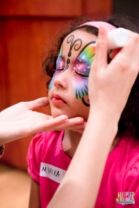 Rainbow butterfly face painting