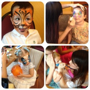 face painting tiger and butterfly