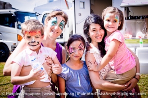 Family face painting_happier singapore