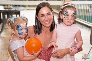 face painting mom and butterfly daughters