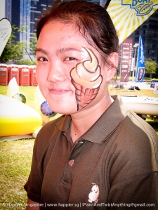 Ice cream face painting_happier singapore