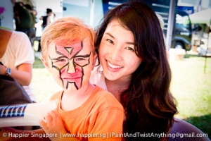 Iron man super hero face painting_happier singapore