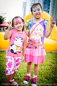 Pink blue princess face painting_happier singapore