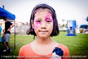 Pink fairy assymetrical face painting_happier singapore