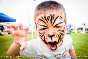 Roaring tiger face painting_happier singapore