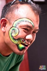 Talking Snake Face Painting