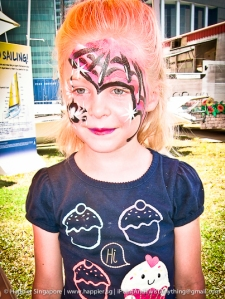 Spider girl super hero face painting_happier singapore