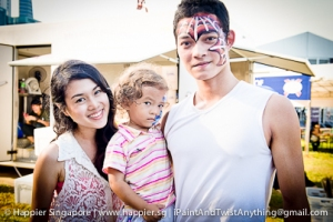 Spider man super hero face painting_happier singapore