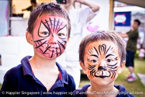 Spiderman tiger super hero face painting_happier singapore
