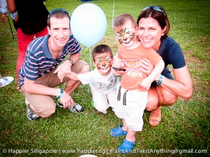 Tiger family face painting_happier singapore
