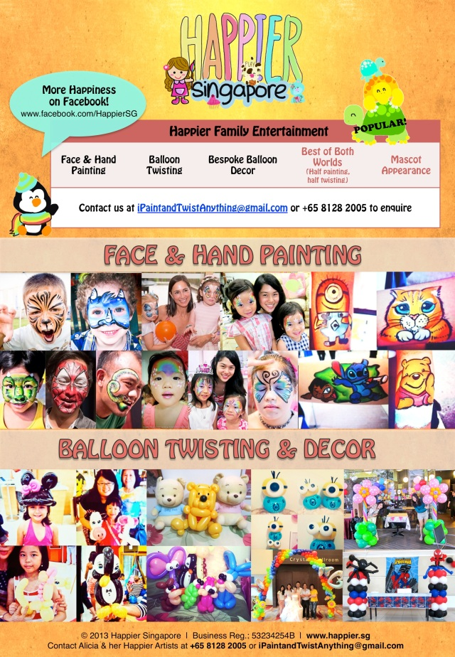 Face Painting Balloon Twisting Balloon Decoration Mascot Teaser_Happier Singapore