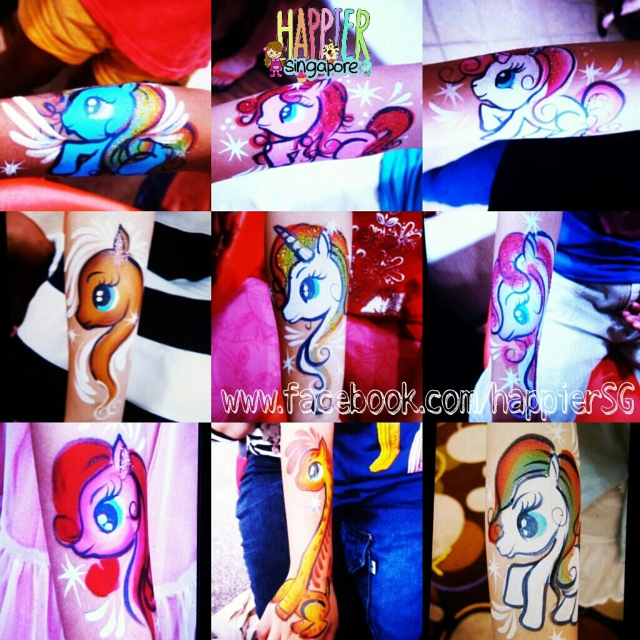 Body painter arm painting Happier Singapore