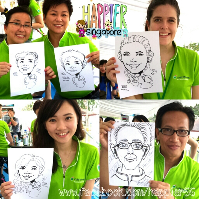 Caricaturist caricature artist Happier Singapore