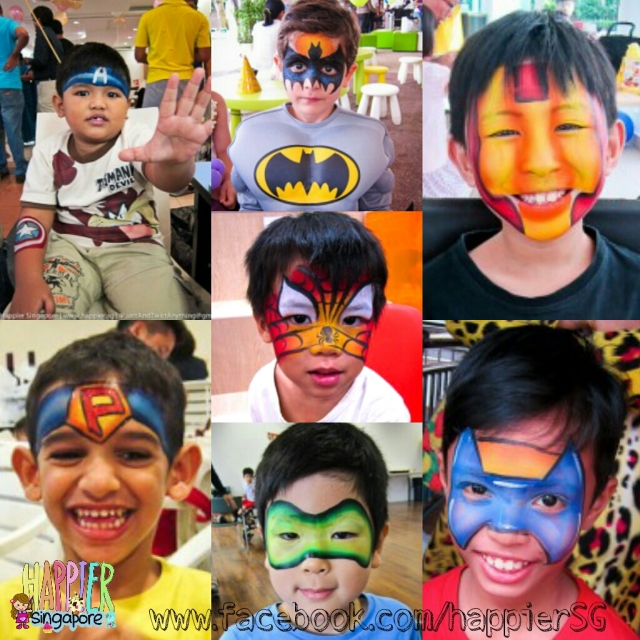 Face painter boys face painting Happier Singapore