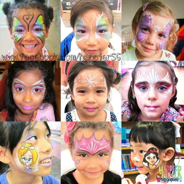 Face painter girls face painting Happier Singapore