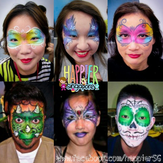 Face painter Makeup artist Fancy Dress Costume Party Happier Singapore