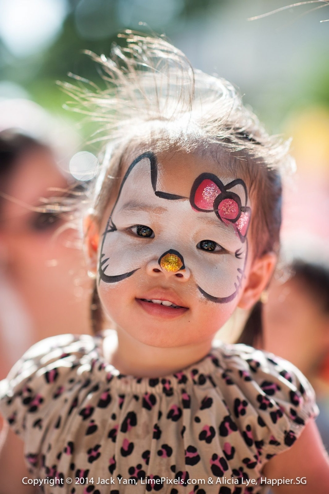 Hello Kitty Face Painting Happier Singapore