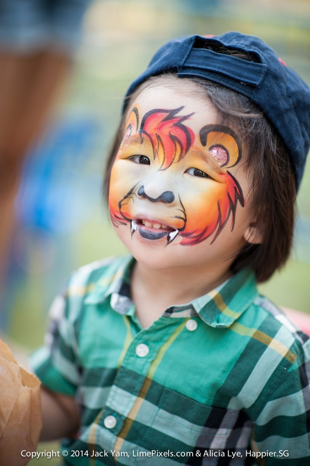 Safari Lion Face Painting Happier Singapore