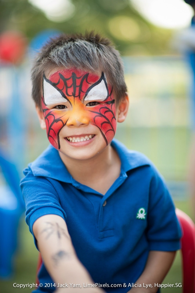 Spiderman Face Painting Happier Singapore