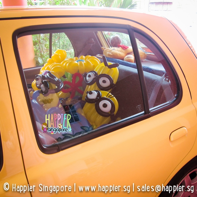 Despicable me balloon sculptures for valentines happier singapore