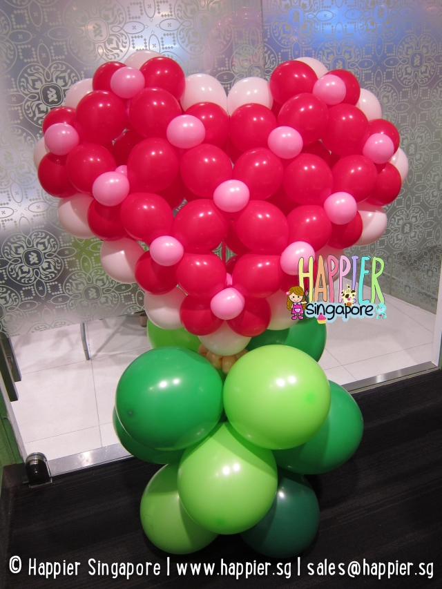 Giant heart balloon sculpture_happier singapore