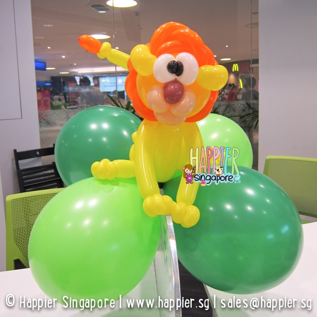 Lion balloon sculpture_happier singapore
