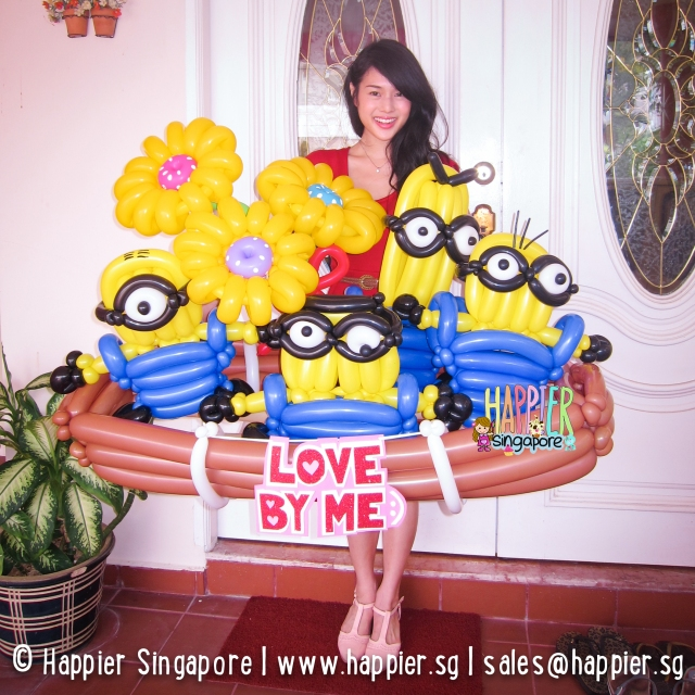 Minion balloon sculptures for valentines happier singapore