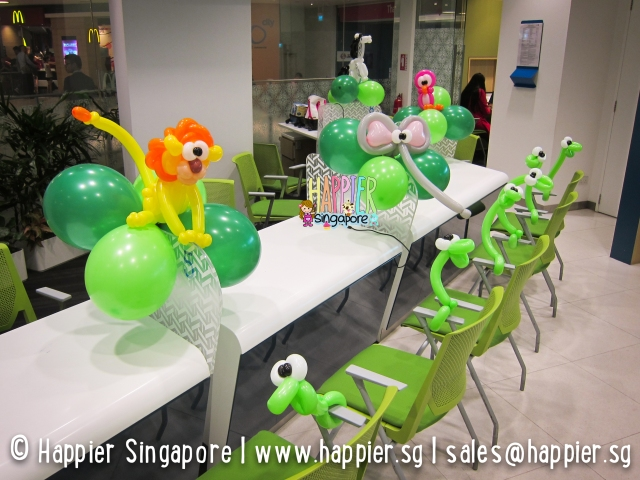 Safari balloon decorations_happier singapore