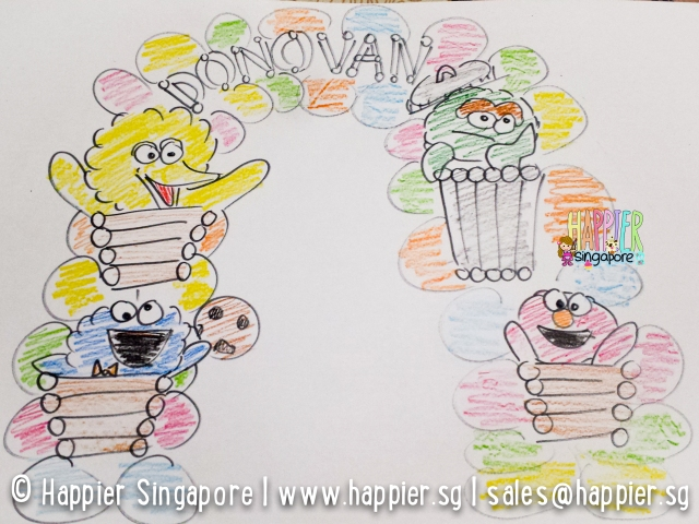 Sketch of sesame street balloon arch_happier singapore