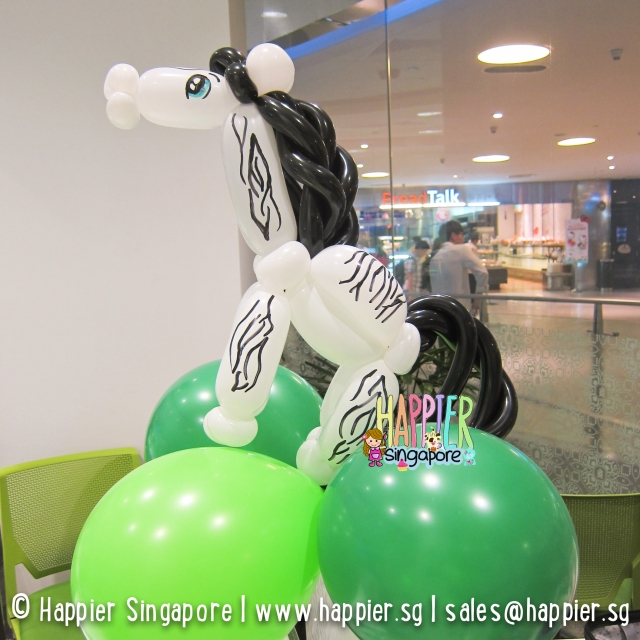 Zebra balloon sculpture_happier singapore
