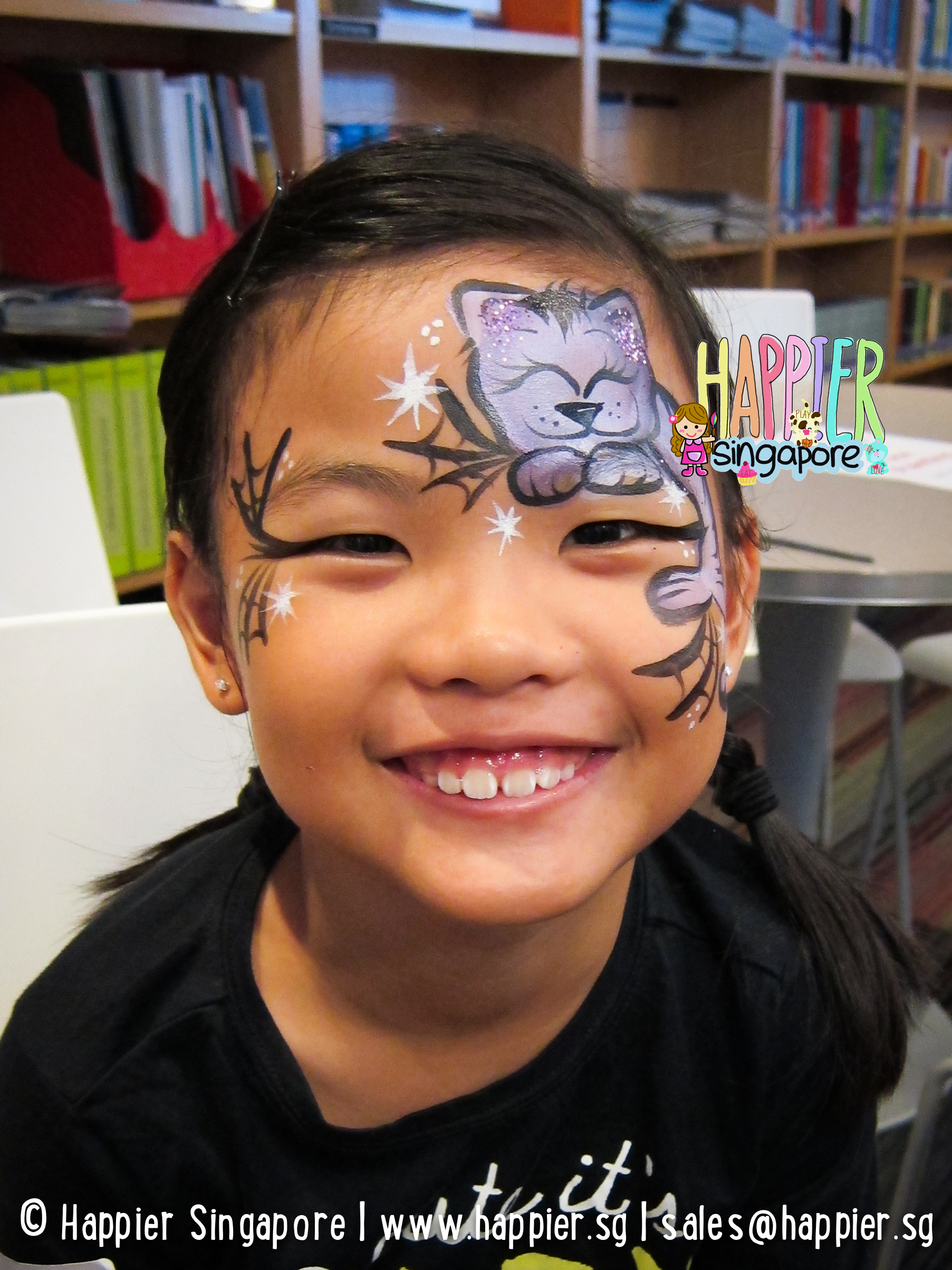Uncategorized Cat Face Paint For Halloween halloween face painters in singapore i paint and twist anything cat painting happier singapore