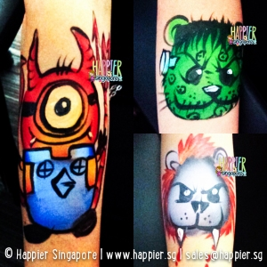 Halloween critters hand painting designs Happier singapore