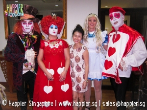 Halloween face painting alice in wonderland mad hatter queen of hearts happier singapore