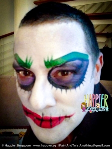 Halloween Joker face painting happier singapore