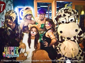 Halloween Jungle Fever HOT91.3FM Face & Body Painting