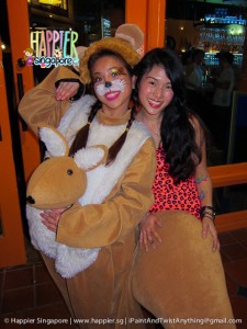 Halloween kangaroo face painting Happier Singapore