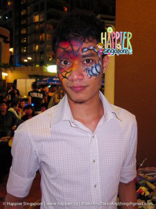 Halloween scorpion king face painting Happier Singapore