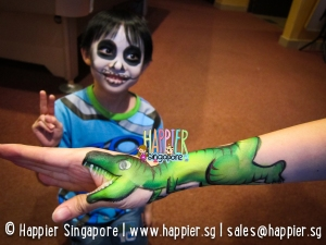 Halloween skull face painting happier singapore