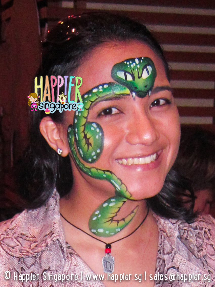 Hire the best halloween face painters in singapore face body halloween snake face painting happier singapore sciox Images