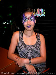 Halloween spider face painting Happier Singapore